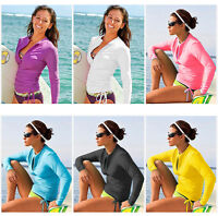 Lynddora Women's UV Sun Protection Long Sleeve Rash Guard Wetsuit Swimsuit Top