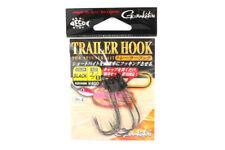 Gamakatsu Trailer Hook for Spinner Bait Black Size 2/0 ,4 Per pack (5863)