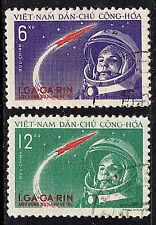 VIETNAM  1961 SPACE YURI GAGARIN  SC#160-161 USED   VF