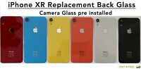 Back Rear Glass Housing Battery Cover Replacement For Apple iPhone XR + Camera