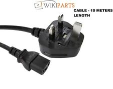 PC LCD TV Kettle Cable CE13 UK Mains Power Lead IEC 13A Amp 10M - FOR SALE