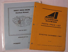 Lyc. Original Direct Drive FAA Approved Overhaul Manual/1967 Parts Price List