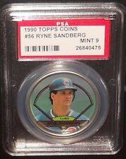 PSA 9 MINT 9 - #56 Ryne Sandberg 1990 Topps Coins Chicago Cubs