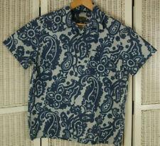 274d52c3 KEZNO HOMME Men's Casual Summer Shirt Blue Batik Look Paisley Print XL 47