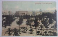 1914 POSTCARD OF THE PLAZA DE CATALUNA BARCELONA SPAIN