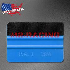 3M Blue Plastic Felt Edge Squeegee Car Vinyl Wrap Application Tool Scraper Decal