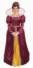 Womens Queen Elizabeth Renaissance Costume Dress Size Standard