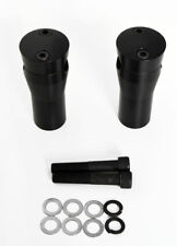"BLACK BILLET ANODIZED HANDLEBAR RISERS SPRINGER 4"" RISE CUSTOM FIT DNA AFTERMARK"