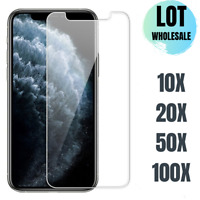 Wholesale Screen Protector For iPhone 12 11 Pro Max XR 8 7 Clear Tempered Glass