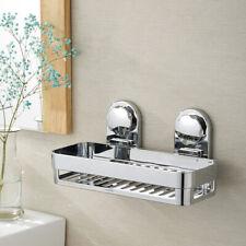 Rustproof Bath Shower Suction Caddy Bathroom Tidy Storage Basket Shelf Holder