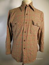 VTG USA Pendleton 100% Virgin Wool Button-Front Shirt Size M 11201