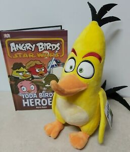 ANGRY BIRDS 34cm CHUCK Yellow Bird Plush H/C Book Bundle 2016 plushie official
