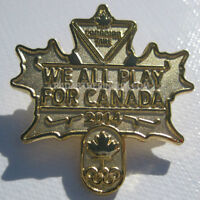 2014 Sochi Winter Olympic Canadian Tire We All Play For Canada COC Pin
