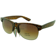 Club Master Style Sunglasses - Full UV Protection - Tortoise - Free Pouch Case