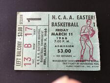 1966 NCAA East Regional Basketball Tournament ticket Stub March 11