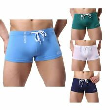 Male Swimwear Breathable Boxer Briefs Swimming Sunga Trunks Pants Beach Shorts