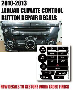 10-15 Jaguar XJ CLIMATE CONTROL BUTTON REPAIR DECAL AW9318C858BE