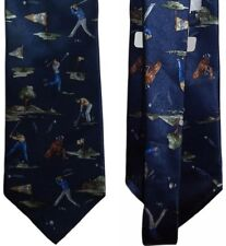 """NEW Pierre Cardin 59"""" x 4"""" Stain Repellent Silk Tie Mens One Size - Navy A719"""
