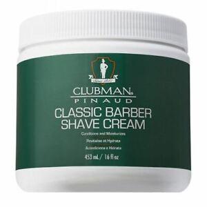 Clubman Pinaud Classic Barber Mens Shave Shaving Cream Lather 453ml