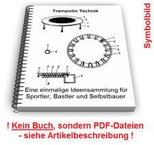 Trampolin selbst bauen Rahmen Füße für Trampoline Sport Freizeit Technik Patente