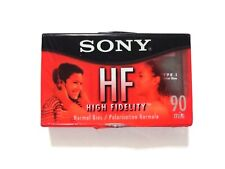 Sony HF tape normal bias 90 min brand new sealed cassette slight tear in plastic