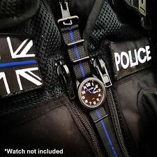Patrolman Watches Thin Blue Line NATO STRAP *22mm* Police watchstrap