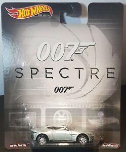 Hot wheels Premium 007 Spectre Aston Martin DB10 Real Riders Metal on Metal.