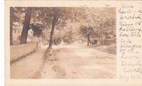 Postcard RPPC Street Scene Horse Wagon Fallsington PA 1906