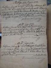 (Autografo) Due lettere di Ricciarda Gonzaga. Massa 8/5/1738 e 22/9/1739
