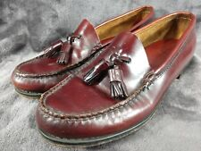 Original GH Bass WeeJuns Tassel Loafer Women 7.5 M Burgundy Leather Made in USA