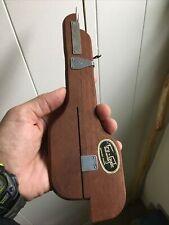 New listing Vintage Shuttle Wooden Rug Hooking Needle Tool Tru-Gyde Wilson Brothers