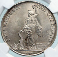 1872 SWITZERLAND Swiss ZURICH SHOOTING FESTIVAL 5 Franc Silver Coin NGC i88115