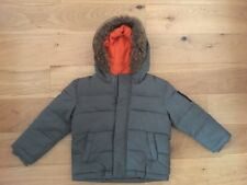 Boys John Rocha Debenhams Khaki Parka Padded Quilted  Fur Hooded Jacket Age 2-3