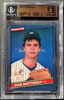 1986 Donruss #173 DON MATTINGLY Graded BGS 9.5 Gem Mint Tough to Grade Yankees
