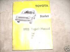 1983 Toyota Starlet Service Shop Repair Workshop Manual 83 OEM