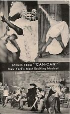 """Scenes From """"Can-Can"""" the Musical Advertising Postcard"""