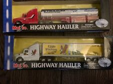 2 MAISTO HIGHWAY HAULER  Semi Tanker & Eagle Trucking Die Cast Metal Collection