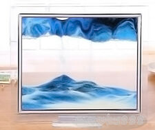 Blue Moving Sand Glass Picture Home Office Table Decor Birthday Xmas Gift-S 1pcs