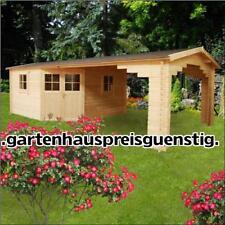 5 eck Gartenhaus Blockhaus Holz 390x390 +390x390, 28mm mit Fußboden 283935