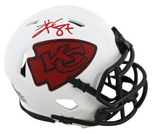 Chiefs Travis Kelce Authentic Signed Lunar Speed Mini Helmet BAS Witnessed