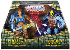 Masters of the universe Laser Power He-Man & Laser Light Skeletor Figures mip