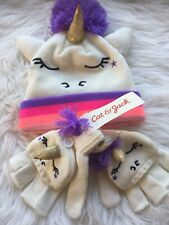 Unicorn Hat And Gloves OSFM