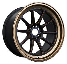 XXR 557 17x8 5x100/114.3mm +15 Black/Bronze Wheels Fits Civic Veloster Eclipse