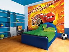 Giant wall mural photo wallpaper for boy's room Cars 2 Disney Lightning McQueen