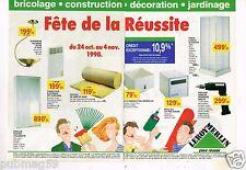 Publicité advertising 1990 (2 pages) Magasins Bricolage Outillage Leroy Merlin