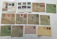 12 piece Belgium lot covers, stationery, parcel forms, etc [y3358]