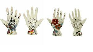 Palmistry Palm Tattoo Hand Ceramic Decorative Boho Ornament Love or Hate