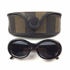 "Vintage 90's Fendi Black Pearl Oval ""Kurt Cobain/Clout� Sunglasses Rare"