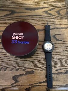 Samsung Gear S3 frontier SM-R765A 46mm Stainless steel Case Gray Smart Watch...