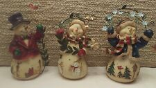 Snow Friends Set of 3 Vintage Home Interiors & Gifts New My last set!